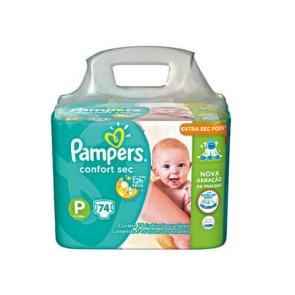Fralda Pampers Confort Sec P c/ 74 und