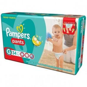 Fralda Pampers Pants Mega G C/34