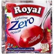 Pó para Gelatina Zero Açucar Royal Morango 12 g