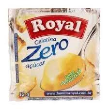 Pó para Gelatina Zero Açucar Royal Abacaxi 12 g