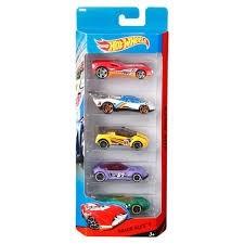 Hot Whells com 5 carros Track Aces 1806 Mattel