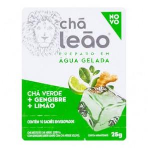 Chá Leão - Chá Verde Gelado com Gengibre e Limão 10 sachês