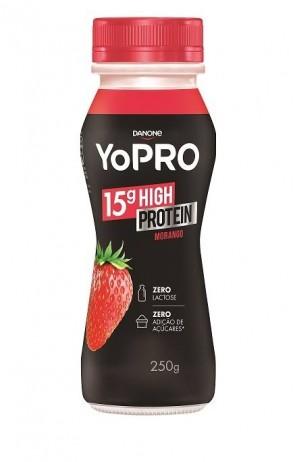 Iogurte 15g High Protein Morango Yopro Danone 250g