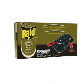 Inseticida Iscas p/barata Raid c/6