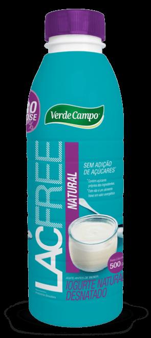 Iogurte LacFree Natural Desnatado Verde Campo 500g