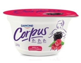 Iogurte Corpus Danone sabor Amora e Framboesa 120g