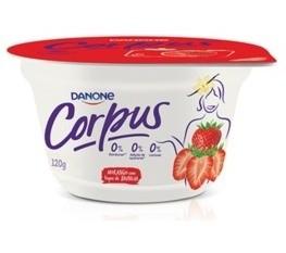 Iogurte Corpus Danone sabor Morango com Baunilha 120g