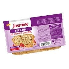 Pão com Frutas/Castanhas  Vegan s/Glúten Jasmine 350g