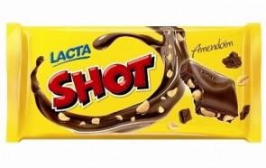 Barra de Chocolate Shot Lacta 155g