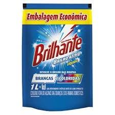 Lava Roupas detergente líquido Brilhante sache 1L