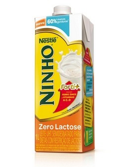 Leite Ninho Fort+ Semidesnatado Zero Lactose 1L