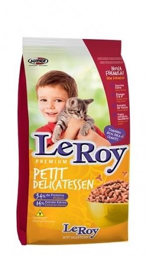 Ração Para Gato Filhote Leroy Petit Delicatessen 1kg