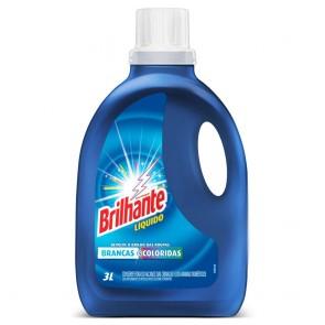 Detergente Liquido Lava Roupas Brilhante 3 L