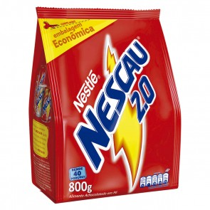 Achocolatado em Pó Nescau 2.0 Nestle Sache 800g