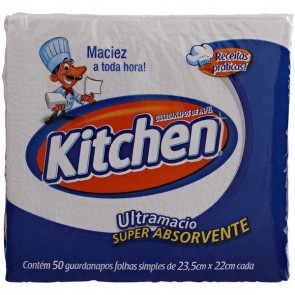 Guardanapos de Papel 22 x 22 Kitchen com 50