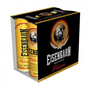 Cerveja Eisenbahn Pilsen pack de 6 com 350ml