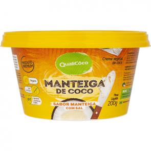 Creme Vegetal (Manteiga) de Coco c/Sal QualiCôco 200g