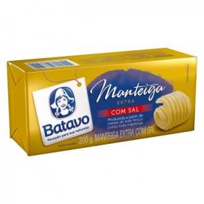 Manteiga Tablete c/Sal Batavo 200g