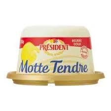 Manteiga Motte Tendre sem Sal President 250g
