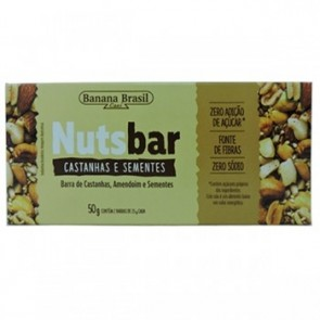 Barra de Cereal Sementes/Castanhas Nuts Bar 50g
