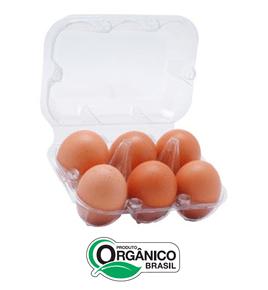 Ovos Orgânicos 6 Unidades