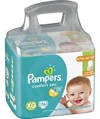 Fralda Pampers Confort Sec XG c/ 76