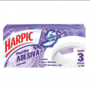 Pasta Adesiva Lavanda Harpic 3Unid.