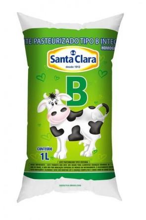 Leite Pasteurizado Tipo B Saquinho Santa Clara 1L