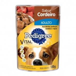 Sachê Pedigree Para Cão Adulto Sabor Cordeiro 100g