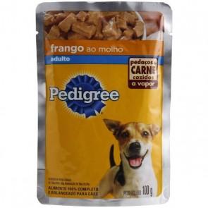 Sachê Pedigree Para Cão Adulto Sabor Frango 100g