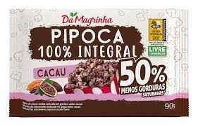 Pipoca de Microondas Da Magrinha Cacau 100% Integral 90G