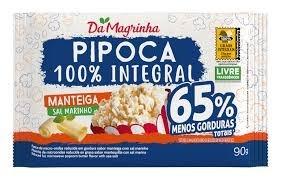 Pipoca de Microondas Da Magrinha Manteiga 100% Integral 90G