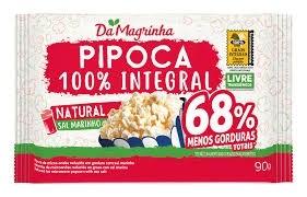 Pipoca de Microondas Da Magrinha  Natural 100% Integral 90G