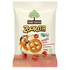 Salgadinho Integral Orgânico Pizza Zooreta  Mãe Terra 45g