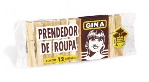 Prendedor de Roupa de Madeira Gina /12