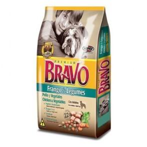 Ração Para Cães Adultos Bravo Sabor Frango e Legumes 1kg