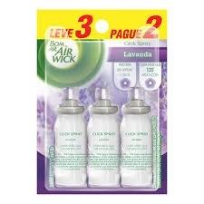 Refil Purificador Bom Ar Air Wick Click Spray Lavanda 03 unidades
