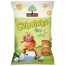 Salgadinho integral orgânico Ceboloko Cebola Crocante Mãe Terra 45g