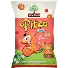 Salgadinho integral orgânico Pitzo Pizza Mãe Terra 45g