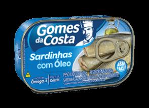 Sardinhas em Óleo Gomes Da Costa 125g