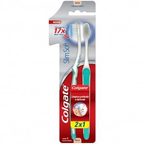 Escova Dental Slim Soft Colgate 2X1