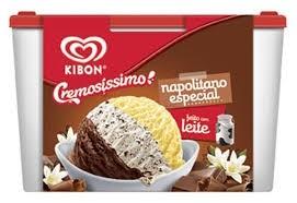 Sorvete Napolitano Especial Kibon 2L