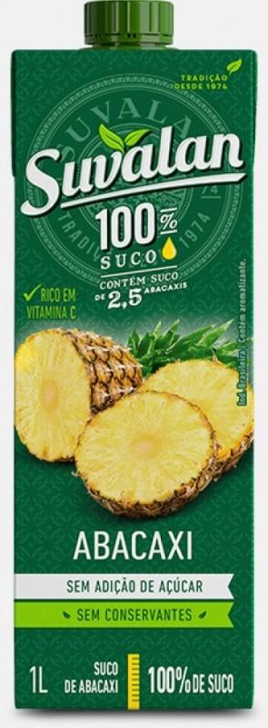 Suco 100% Suco Abacaxi Suvalan 1 litro