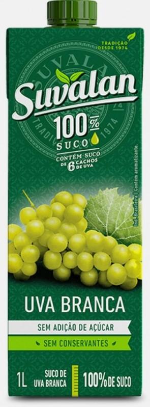 Suco 100% suco Uva Branca Suvalan 1 litro