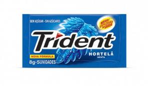 Chiclete Trident Hortelã 8G