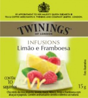 Chá Importado Twinings C/ 10 Saquinhos Limão e Framboesa