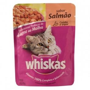Alimento Para Gatos Whiskas Sachê Sabor Salmão 85g